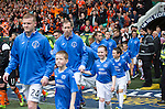 St Johnstone v Dundee United....17.05.14   William Hill Scottish Cup Final<br /> The St Johnstone players walk out onto the pitch<br /> Picture by Graeme Hart.<br /> Copyright Perthshire Picture Agency<br /> Tel: 01738 623350  Mobile: 07990 594431