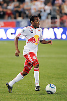 Dane Richards (19) of the New York Red Bulls. The New York Red Bulls defeated the San Jose Earthquakes 2-0 during a Major League Soccer (MLS) match at Red Bull Arena in Harrison, NJ, on August 28, 2010.