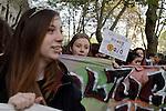 studenti in corteo contro l'alternanza scuola lavoro