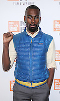 "NEW YORK, NY-September 30:DeRay McKesson at 54th New York Film Festival - Opening Night Gala Presentation And ""13th"" World Premiere at Alice Tully Hall at Lincoln Center in New York. September 30, 2016. Credit:RW/MediaPunch"