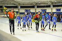 SPEED SKATING: CALGARY: Olympic Oval, 08-03-2015, ISU World Championships Allround, World Champions Sven Kramer (NED) and Martina Sáblikovea (CZE), ©foto Martin de Jong