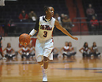 "Ole Miss' Valencia McFarland (3) vs. Mississippi State in a NCAA women's college basketball game at the C.M. ""Tad"" Smith in Oxford, Miss. on Thursday, February 10, 2011.  Mississippi State won 59-43.."