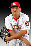25 February 2007: Washington Nationals pitcher Chad Cordero poses for his Photo Day portrait at Space Coast Stadium in Viera, Florida.<br /> <br /> Mandatory Photo Credit: Ed Wolfstein Photo<br /> <br /> Note: This image is available in a RAW (NEF) File Format - contact Photographer.