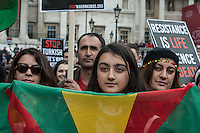 Protest against repression of Kurdish people in Turkey. London 6-3-16