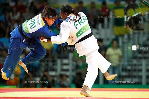 Miku Tashiro (JPN), Clarisse Agbegnenou (FRA),<br /> AUGUST 9, 2016 - Judo :<br /> Women's -63kg Semifinal at Carioca Arena 2 during the Rio 2016 Olympic Games in Rio de Janeiro, Brazil. (Photo by Yuzuru Sunada/AFLO)