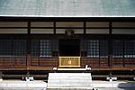 Photo shows  the entrance to the main hall at  Jomyoji temple in Kamakura, Japan on 24 Jan. 2012. Photographer: Robert Gilhooly