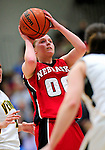 4 January 2010: University of Nebraska Cornhuskers' guard Lindsey Moore, a Freshman from Covington, Washington, in action against the University of Vermont Catamounts at Patrick Gymnasium in Burlington, Vermont. The Huskers, finishing off their first perfect non-conference season in school history, improved to 13-0 with the 94-50 win over the Lady Cats. Mandatory Credit: Ed Wolfstein Photo