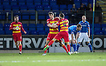 St Johnstone v Partick Thistle&hellip;02.03.16  SPFL McDiarmid Park, Perth<br />Callum Booth celebrates his goal<br />Picture by Graeme Hart.<br />Copyright Perthshire Picture Agency<br />Tel: 01738 623350  Mobile: 07990 594431