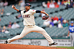 13 September 2008: Cleveland Indians' starting pitcher Fausto Carmona on the mound against the Kansas City Royals at Progressive Field in Cleveland, Ohio. The Indians fell to the Royals 8-3 in the first game of their rain delayed double-header...Mandatory Photo Credit: Ed Wolfstein Photo