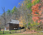 "A barn surrounded by Fall foilage in the Cataloochee section of the Great Smoky Mountains National Park. Three exposure HDR, slightly ""ortonized""."