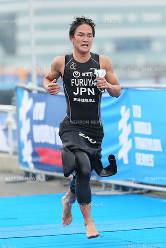 Junpei Furuya (JPN), <br /> MAY 16, 2015 - Triathlon : <br /> 2015 ITU World Triathlon Series Yokohama <br /> Men's Elite <br /> in Yokohama city, Kanagawa, Japan. <br /> (Photo by YUTAKA/AFLO SPORT)