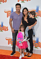 LOS ANGELES, CA. October 23, 2016: TV presenter Mario Lopez &amp; family at the Los Angeles premiere of &quot;Trolls&quot; at the Regency Village Theatre, Westwood.<br /> Picture: Paul Smith/Featureflash/SilverHub 0208 004 5359/ 07711 972644 Editors@silverhubmedia.com