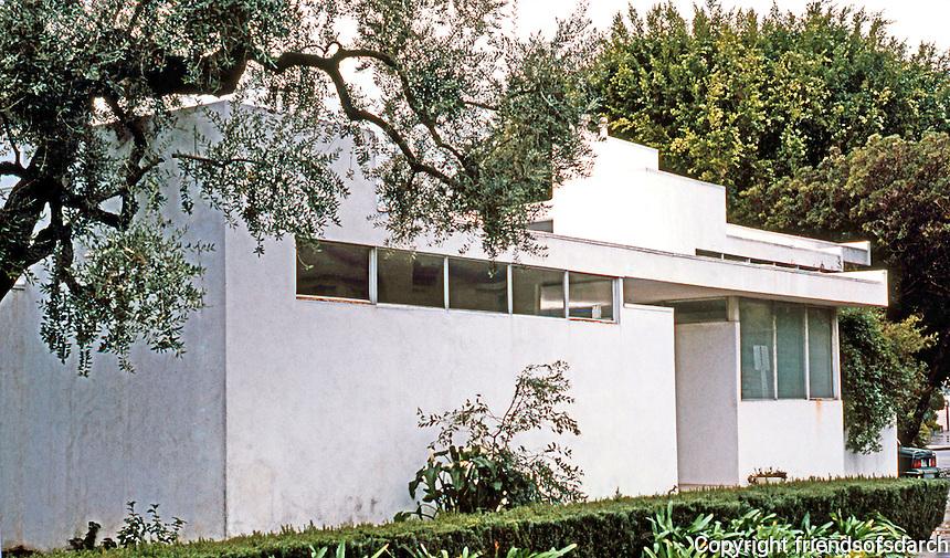 Rudolph Schindler: Buck House, 8th & Genesee, Los Angeles 1934.