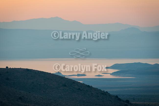 Mono Lake, north shore, summer morning before sunrise.