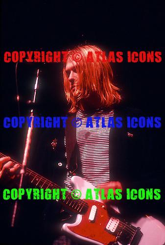 Kurt Cobain :Nirvana: New York Coliseum: New York City: <br /> November 14, 1993:<br /> Photo Credit: Eddie Malluk/AtlasIcons.com