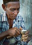 Wood carving provides alternative income, Komodo Village, Komodo National Park