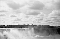 This iconic view from the Canadian side of the falls. Yashica rangefinder. 2014