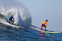Half Moon Bay - Ca, Sunday, January 20, 2013: Shawn Dollar and Nathan Fletcher compete during the 2013 Mavericks Invitational..