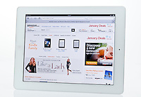 Apple Ipad showing Amazon Website  - Jan 2013.