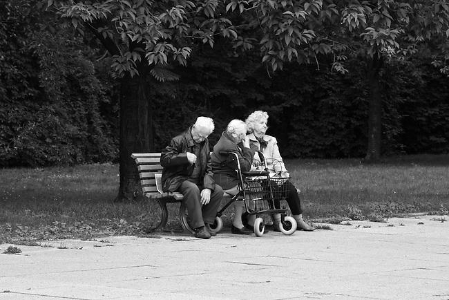 Elderly pensioners in former East Berlin, Germany. Aug. 1, 2007.