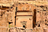 Petra is Jordan's most visited tourist attraction. Rock cut tombs.