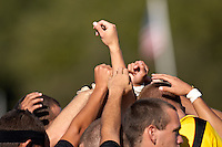 SAN ANTONIO, TX - OCTOBER 24, 2008: The University of Texas of the Permian Basin Falcons vs. the St. Mary's University Rattlers Men's Soccer at the St. Mary's Soccer Field. (Photo by Jeff Huehn)