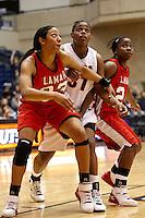 SAN ANTONIO, TX - JANUARY 31, 2009: The Lamar University Cardinals vs. The University of Texas at San Antonio Roadrunners Women's Basketball at the UTSA Convocation Center. (Photo by Jeff Huehn)