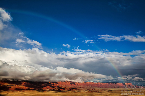 Rainbow Over Vermilion Cliffs National Monument, Arizona