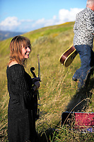 Hobnail band photoshoot in Whitireia Park in Titahi Bay, Wellington, New Zealand on Tuesday, 25 April 2017. Photo: Dave Lintott / lintottphoto.co.nz