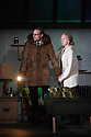 """London, UK. 14.10.2016. THE RED BARN, by David Hare, based on the Georges Simenon novel """"La Main"""", opens in the Lyttelton, at the National Theatre. Directed by Robert Icke, with lighting design by Paule Constable, and design by Bunny Christie. Picture shows: Mark Strong (Donald Dodd), Hope David (Ingrid Dodd) and Elizabeth Debicki (Mona Sanders). Photograph © Jane Hobson."""