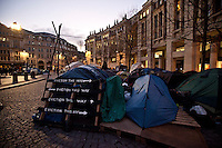 "25.02.2012 - Occupy LSX - ""Eviction this way, eviction this way…"""