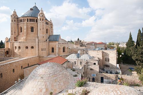Vieille ville de Jerusalem, Avril 2011. Vue sur l'eglise du saint Sepulcre, ou, selon la tradition chretienne, se trouverait le tombeau du Christ.