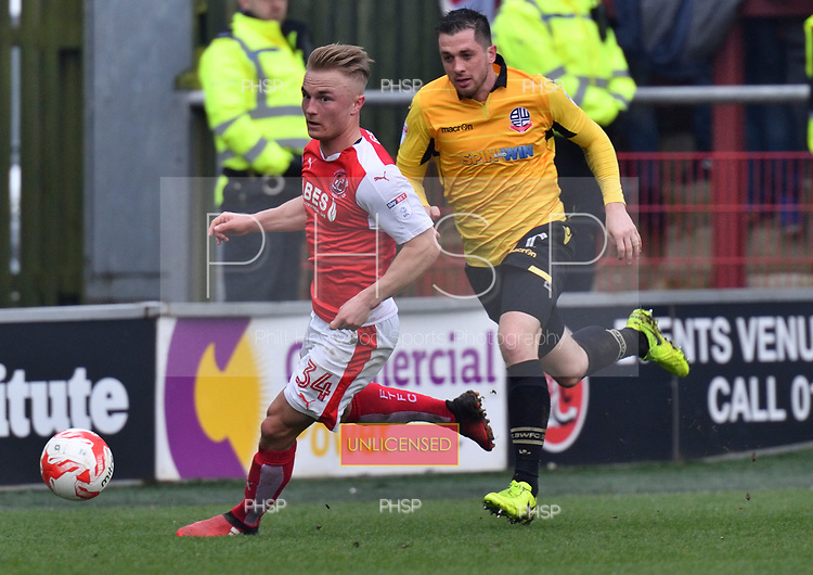 11/03/2017 Sky Bet League 1 Fleetwood Town v Bolton Wanderers<br /> <br /> Kyle Dempsey, Fleetwood Town FC