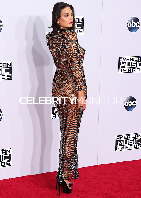 LOS ANGELES, CA, USA - NOVEMBER 23: Bleona Qereti arrives at the 2014 American Music Awards held at Nokia Theatre L.A. Live on November 23, 2014 in Los Angeles, California, United States. (Photo by Xavier Collin/Celebrity Monitor)