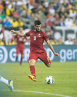 Portugal forward Nelson Oliveira (9).  In an International friendly match Brazil defeated Portugal, 3-1, at Gillette Stadium on Sep 10, 2013.