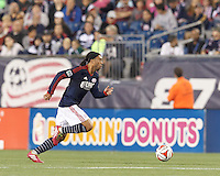 Foxborough, Massachusetts - August 23, 2014: In a Major League Soccer (MLS) match, the New England Revolution (blue/white) defeated Chivas USA (red/blue), 1-0, at Gillette Stadium.