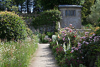 Summer borders in the Lower Garden at Haddon Hall
