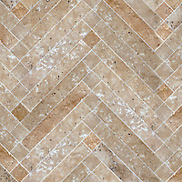 Antiquera, a natural stone mosaic  shown in Lavigne honed, is part of the Miraflores Collection by Paul Schatz for New Ravenna Mosaics.<br />