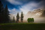 Yosemite Valley at night, Yosemite National Park, California