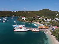 Aerial view of Cruz Bay<br /> St. John<br /> U.S. Virgin Islands