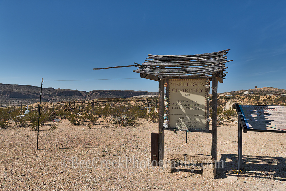 This was the Terlingua Cementery which is listed on the National register for historic sites.