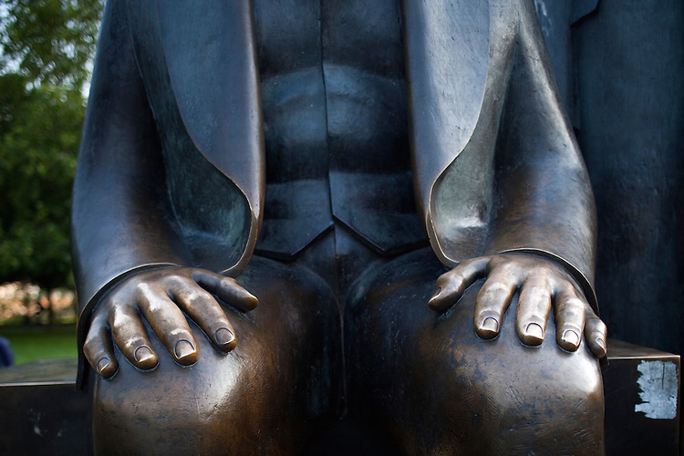 Karl Marx statue's hands, Berlin, Germany