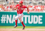 28 July 2013: Washington Nationals third baseman Ryan Zimmerman rounds the bases during a game against the New York Mets at Nationals Park in Washington, DC. The Nationals defeated the Mets 14-1. Mandatory Credit: Ed Wolfstein Photo *** RAW (NEF) Image File Available ***