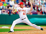 9 March 2010: Washington Nationals' pitcher Victor Garate on the mound during a Spring Training game against the Detroit Tigers at Space Coast Stadium in Viera, Florida. The Tigers defeated the Nationals 9-4 in Grapefruit League action. Mandatory Credit: Ed Wolfstein Photo