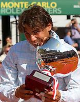 Rafael NADAL (ESP) against Fernando VERDASCO (ESP) in the final. Rafael Nadal beat Fernando Verdasco 6-0 6-1..International Tennis - 2010 ATP World Tour - Masters 1000 - Monte-Carlo Rolex Masters - Monte-Carlo Country Club - Alpes-Maritimes - France..© AMN Images, Barry House, 20-22 Worple Road, London, SW19 4DH.Tel -  + 44 20 8947 0100.Fax - + 44 20 8947 0117