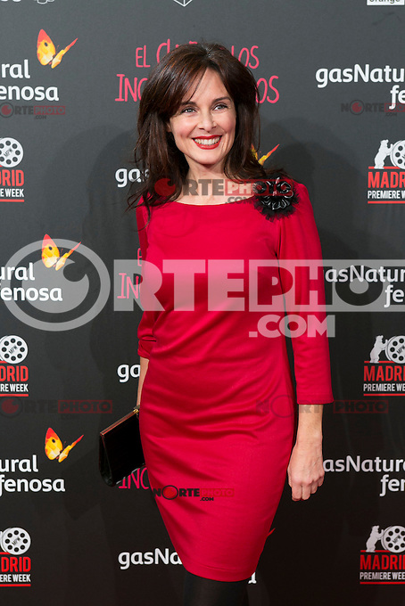 Silvia Marso attend the Premiere of the movie &quot;El club de los incomprendidos&quot; at callao Cinema in Madrid, Spain. December 1, 2014. (ALTERPHOTOS/Carlos Dafonte) /NortePhoto<br />