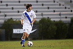 01 October 2013: Duke's Zach Mathers. The Duke University Blue Devils hosted the University of North Carolina Wilmington Seahawks at Koskinen Stadium in Durham, NC in a 2013 NCAA Division I Men's Soccer match. UNCW won the game 2-1.
