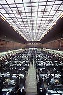 October, 1980. Tokyo, Japan. Interior views of the Tokyo Exchange market.