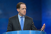 March 14, 2013  (National Harbor, MD)  U.S Senator Pat Toomey (R-PA) speaks to attendees of the 2013 Conservative Political Action Conference (CPAC).  (Photo by Don Baxter/Media Images International)
