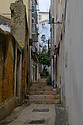 Lisbon, Portugal. 21.03.2015. A typical narrow street in the Alfama district of Lisbon. © Jane Hobson.